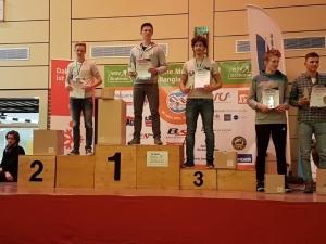 Siegerehrung Einzel Alexander Brandner dritter von rechts