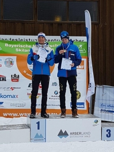 Siegerehrung Teamsprint Anjan Sossau links und Alexander Brandner rechts